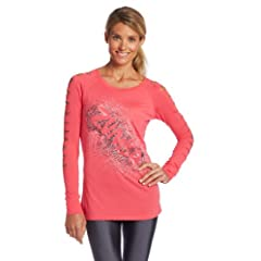 Buy Zumba Fitness Ladies Air-Glow Slashed Sleeve Top by Zumba Fitness