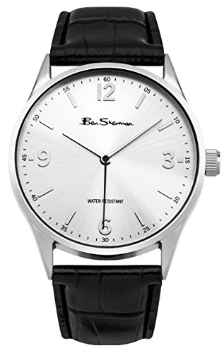 ben-sherman-mens-bs129-quartz-watch-with-silver-dial-analogue-display-and-pu-strap