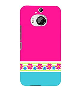 Classic Pink Color Design 3D Hard Polycarbonate Designer Back Case Cover for HTC One M9+ :: HTC One M9 Plus