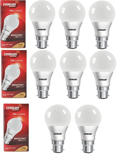 7W Cool Day Light 700 Lumens LED Bulb (Pack of 8)