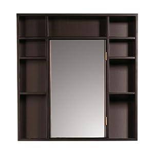 Decolav 9700 rm wood frame medicine cabinet for Wood frame medicine cabinet