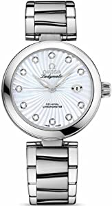 Omega De Ville Ladymatic Stainless Steel Mother of Pearl Diamond Automatic Watch 425.30.34.20.55.001
