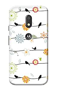 Moto G4 Play Back Cover KanvasCases Premium Quality Designer Printed 3D Lightweight Slim Matte Finish Hard Case Back Cover for Moto G Play, 4th Gen + Free Mobile Viewing Stand