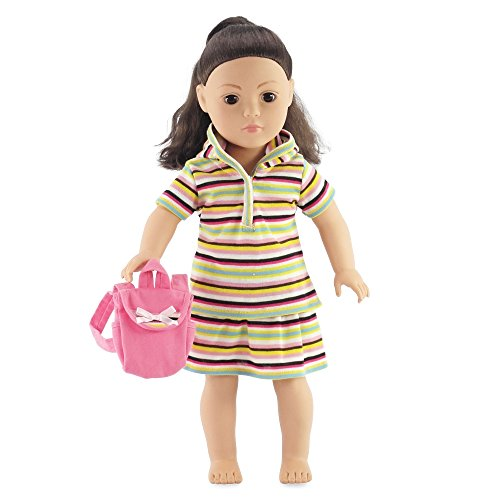 18 Inch Doll Clothes - Striped Summer Skirt Outfit | Fits American Girl Dolls - 1