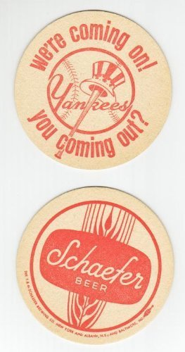 1960's New York Yankees Schaefer Beer Coaster