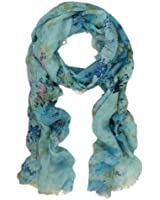 TrendsBlue Premium Soft Viscose Flower Print Scarf - Different Colors Available