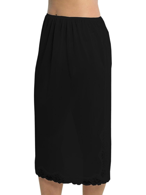 Marlow Damen Unterrock aus seidigem Polyester mit Spitze an der Unterseite, ca. 73 cm Länge, verschiedene Farben und Größen online bestellen