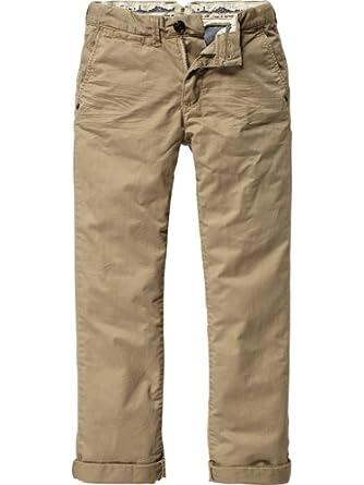 Scotch Shrunk Jungen Hose 12440780503 - chino pants in pima quality, Gr. 116 (6), Beige (06 - sand)