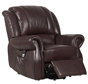 Cosmopolitan Dual Motor Leather Riser Recliner Chair Rise & Recline Armchair
