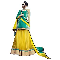 Aagaman Fashion Net Lehenga Cholis (TSN88012_Yellow)