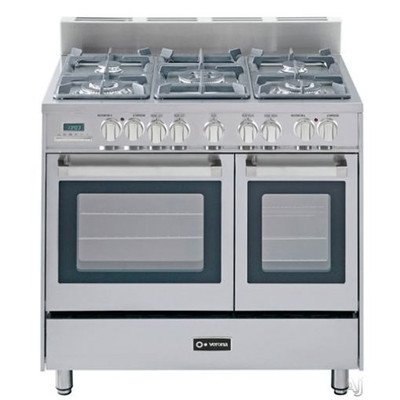Verona VEFSGE365DSS 36 inch Double Oven Dual Fuel in Stainless Steel (36 Inch Duel Fuel Range compare prices)