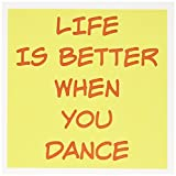 3dRose Life is Better When You Dance Saying Greeting Cards, 6