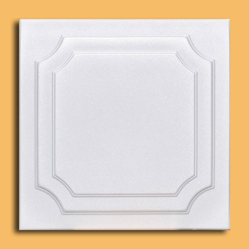 White Styrofoam Ceiling Tile Yalta (Package of 8 Tiles) - Other Sellers call this The Virginian and R08