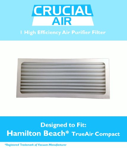 Crucial Air Replacement Air Purifier Filter Fits Hamilton Beach True Air 04383 Glow 04385, 990051000