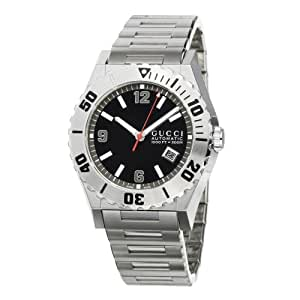 Gucci Herren-Armbanduhr Pantheon Edelstahl YA115211