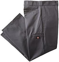 Dickies Mens Loose Fit Double Knee Twill Work Pant, Charcoal, 44x32