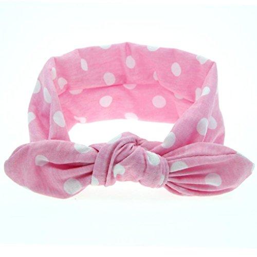 kolylong baby kaninchen ohr elastic bowknotstirnband 0 monate bis 5 jahre altes kind rosa. Black Bedroom Furniture Sets. Home Design Ideas