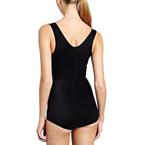 Maidenform Flexees Women's Shapewear Romper, Modern Black, Medium