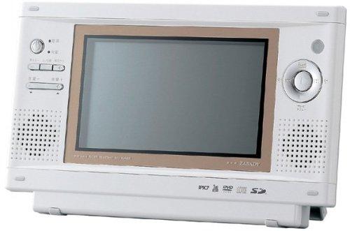 TWINBIRD DVD ZABADY ワンセグチューナー搭載ポータブル防水DVDプレーヤー VD-J713CW セラミックホワイト