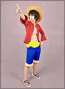 Onepiece Cosplay Costumes Luffy2-two Years Later (The Second Generation) ,Size:XL, (Email Us If You Need Other Size)