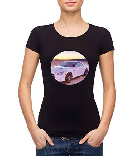 Ford Mustang Sports Car Women's MEGAN Crew Neck T-shirt Nero Medium