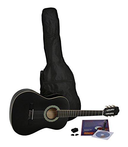 NAVARRA Konzertgitarre 1/2 STARTER SET schwarz