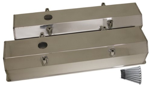 chevy small block fabricated polished aluminum racing valve covers fit