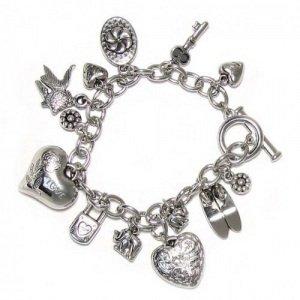 joli bracelet en argent effet jeune fille bracelet mode dames fermoir bijoux. Black Bedroom Furniture Sets. Home Design Ideas