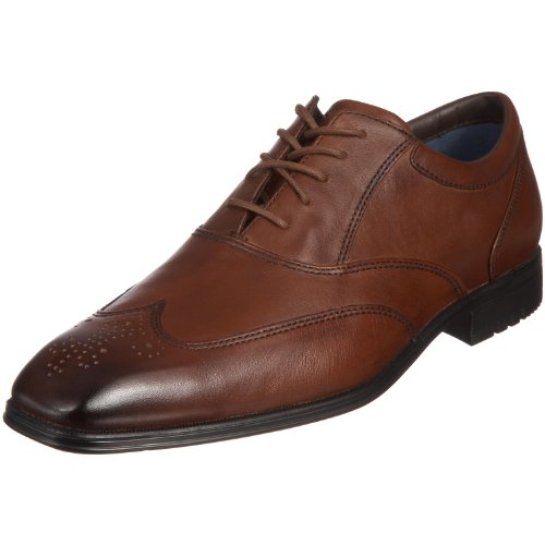 Rockport Men's Hillandale Dark Tan Shoe K53165  9.5 UK , 44 EU , 10 US