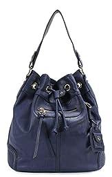Scarleton Large Drawstring Handbag H107807 - Blue