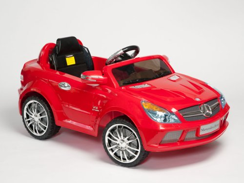 Kids Ride-On Power Electric Radio Remote Control Car With Mp3 Function Toy Car (Sl65 Amg Mercedes) New 2013 Model Red Color