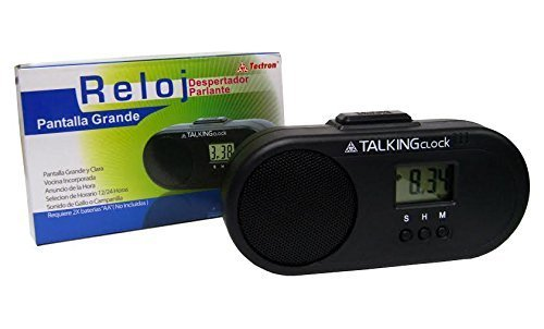 Spanish Talking Alarm Clock, Big Clear Display (Pantalla Grande), Chime (Hacer Sonar) Or Rooster Sound (Sonido Gallo) - 1