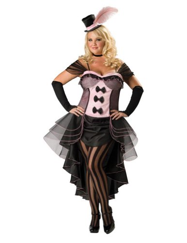 Adult-Costume Burlesque Babe Xxl Halloween Costume - Adult 2X Large