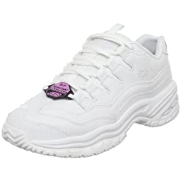 Skechers for Work Women's Energy-Sector Lace-Up,White,9 M US