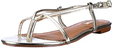 Buffalo London 311-3977 PU 129868, Damen Sandalen/Zehentrenner, Gold (GOLD 58), EU 36