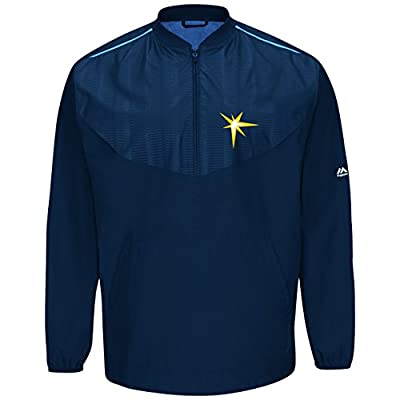 Tampa Bay Rays Navy On-Field Long Sleeve Training Jacket by Majestic