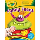 Crayola Funny Faces Colouring And Sticker Book People