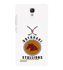 EPICCASE Dothraki stallions Mobile Back Case Cover For Xiaomi Redmi Note 4G (Designer Case)
