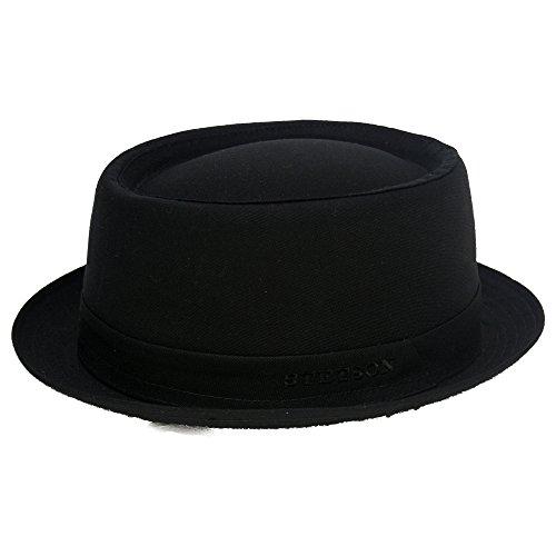 athens-cotton-cappello-pork-pie-stetson-cappelli-in-cotone-cappelli-da-uomo-57-cm-nero