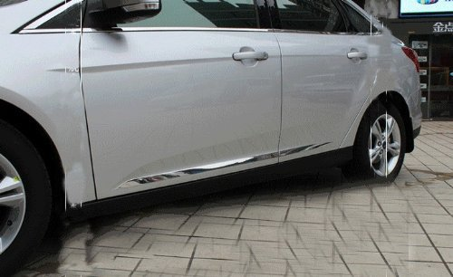 Auto Parts Body Door Side ChromeMolding Trim Stainless Steel 4pcs Fit For Fit Ford FOCUS 2012 2013