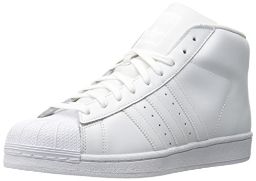 Adidas Originals Men's Pro Model Fashion Sneaker, White/White/White, 8.5 M US