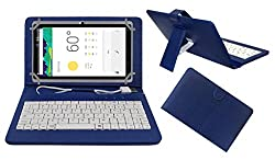 ACM PREMIUM USB KEYBOARD TABLET CASE HOLDER COVER FOR DOMO SLATE X15 With Free MICRO USB OTG - BLUE