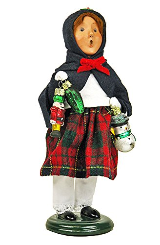 Byers Choice Caroler – Girl with Glass Ornaments – Christmas Decoration