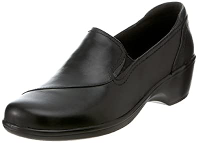 Clarks Women's May Poppy Loafer,Black Leather,6 M US