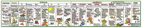 Vegetarian Nutrition Panel Poster By Liz Cook