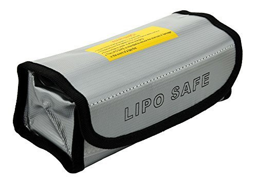 BW® Fireproof Explosionproof Lipo Battery Safe Bag Lipo Battery Guard Safe Bag Pouch Sack for Charge & Storage 185x75x60mm Large size