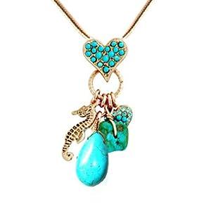 Frost® coeur collier pour femme, en plaqué or, de cristaux de