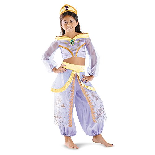 Disguise Disney Aladdin Storybook Jasmine Prestige Girls Costume, One Color, 4-6X
