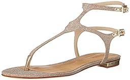 Schutz Women\'s Galey Dress Sandal, Ouro, 6.5 M US