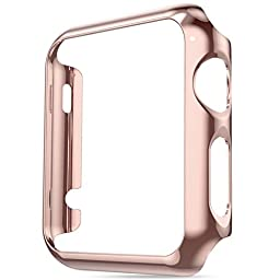 ABC® Ultrathin Protective Case Gold Plated Plating Cover for Apple Watch 38mm (Rose Gold )